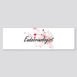 Endocrinologist Artistic Job Design Bumper Sticker